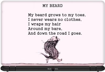 Beard India My Poem Vinyl Laptop Decal 15.6