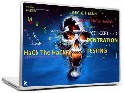 Print Shapes Hack the Hacker Vinyl Laptop Decal 15.6