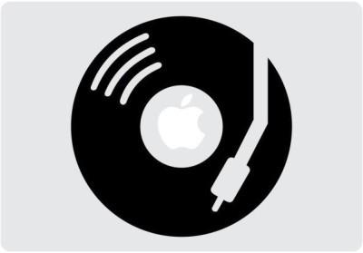 Engrave DJ Apple Vinyl Laptop Decal 13