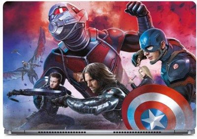 Marvel Civil War Team Vinyl Laptop Decal