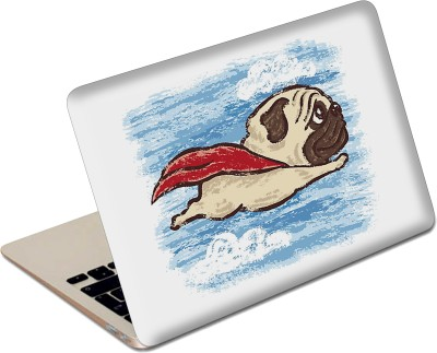 The Fappy Store Flying Pug Vinyl Laptop Decal 15.6