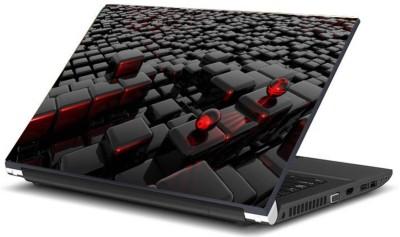 Print Shapes 3d black cubes with two balls Vinyl Laptop Decal