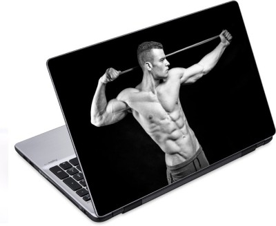 ezyPRNT Skinny Six Packs Body Building (14 to 14.9 inch) Vinyl Laptop Decal 14