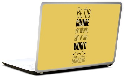 Lab No. 4 Be The Change Mahatma Gandhi Inspirational Quote Vinyl Laptop Decal