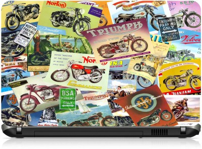 NG Stunners Norton & Triumph Collage Synthetic Laptop Decal 15.6