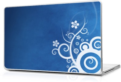 Global Abstract Blue Design Vinyl Laptop Decal