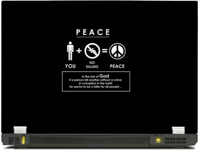 Skinkart Peace Infographic Vinyl Laptop Decal 12.1
