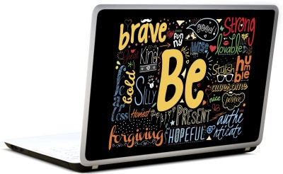 Lab No. 4 Be Motivating Words Collage Vinyl Laptop Decal 17