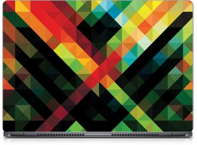 Seamen Abstract Squares Vinyl Laptop Decal 15.6