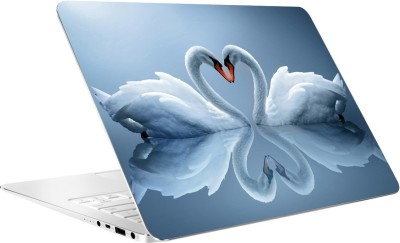 AV Styles Two Swans By Av Styles Vinyl Laptop Decal