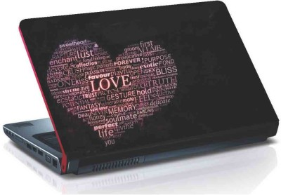 virtual prints heart image with text digitally printed vinyl Laptop Decal 15