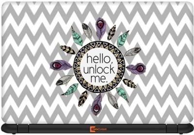 Ownclique Hello Unlock Me Vinyl Laptop Decal 14.1