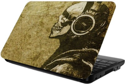 Printland Skulled Vinyl Laptop Decal 13.5