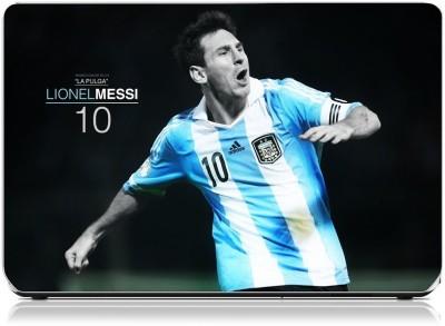 Friendly Formals Lionel Messi La Pulga 10 Vinyl Laptop Decal 15.6