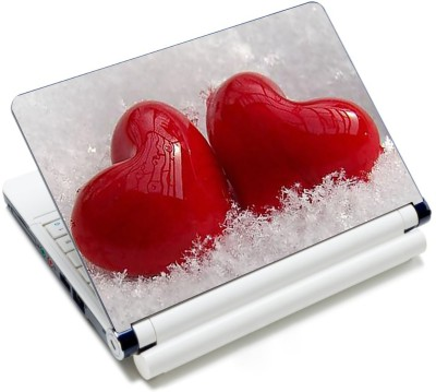 CrazyLiner Two Beautiful Heart Vinyl Laptop Decal