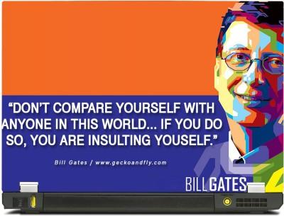 Skinkart Bill Gates Thoughts Vinyl Laptop Decal 13.3