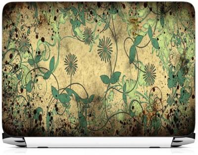 Print Gallery Green Floral Design Vinyl Laptop Decal 15.6