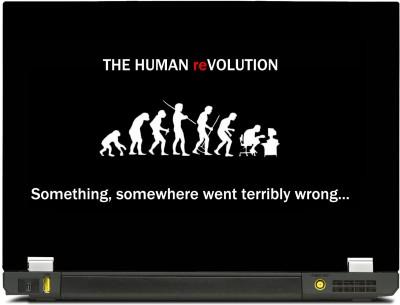 SkinShack Human Evolution into Geek (Something went wrong) (15.6 inch) Vinyl Laptop Decal 15.6