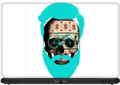 Beard India Cycle Skull Vinyl Laptop Decal