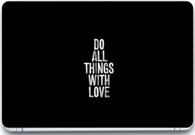 Trendsmate Do all things with Love 3M Vinyl and Lamination Laptop Decal 15.6