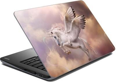 meSleep White Fly Horse Vinyl Laptop Decal 15.6