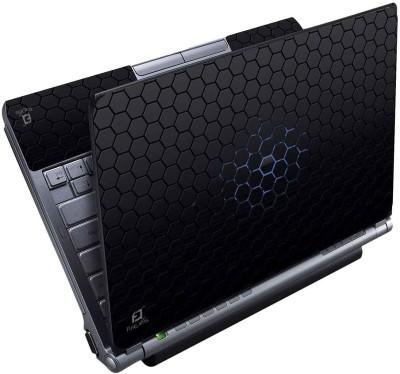 FineArts Black Octagon Full Panel Vinyl Laptop Decal 15.6