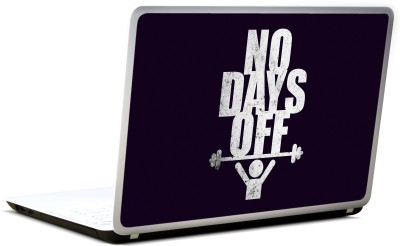 Lab No. 4 No Days Off Gym Quote Vinyl Laptop Decal 17