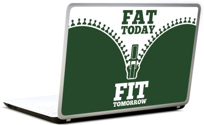 Lab No. 4 Fat Today Fit Tomorrow Gym Motivational Vinyl Laptop Decal