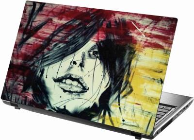 Sab Kuch Print Girl Sketch 70 Polyester Laptop Decal 14.1