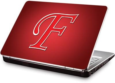 Clublaptop Alphabetical :Letter F (Cls-269) Vinyl Laptop Decal 15.6