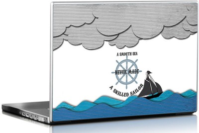 Seven Rays Smooth Sea Never Made A Skilled Sailor Vinyl Laptop Decal 15.6