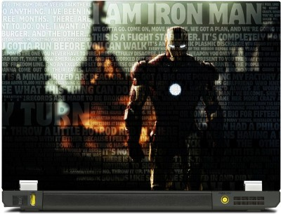 SkinShack Iron Man Typography Superhero (10.1 inch) Vinyl Laptop Decal 10.1