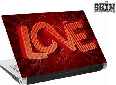 142Skin Love Pattern Fill Red Vinyl Laptop Decal