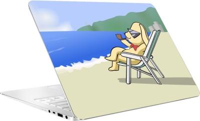 AV Styles Cute Doggy At Beach Laptop Skin by AV Styles Vinyl Laptop Decal 15.6