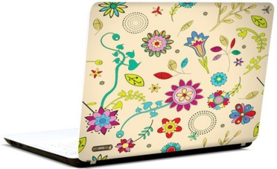 PicsAndYou Floral Pattern Abstract 2 Vinyl Laptop Decal 15.6