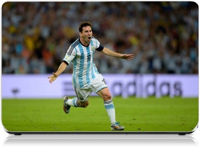 Friendly Formals Lionel Messi Goal Cheer Vinyl Laptop Decal 15.6