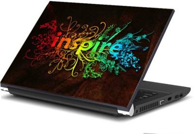Print Shapes Inspire floral Vinyl Laptop Decal 15.6