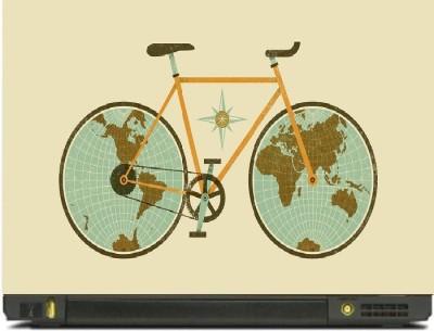 livestash cycle vinyl Laptop Decal