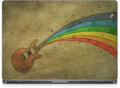 Seamen Rainbow Guitar Vinyl Laptop Decal 15.6