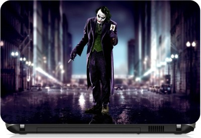 Print Shapes Joker with card in street Vinyl Laptop Decal 15.6