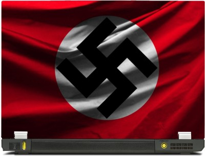 SkinShack New 3D Nazi Swastika Flag (12.1 inch) Vinyl Laptop Decal 12.1