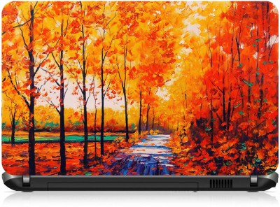 Ng Stunners Beautiful Leaves Paint Vinyl Laptop Decal 15.6