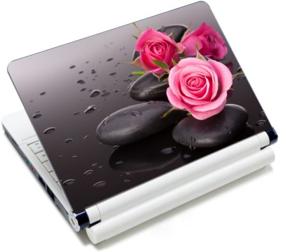 CrazyLiner Pink Rose Pabble Vinyl Laptop Decal 15.6