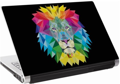 142Skin Lion colorful crystal Vinyl Laptop Decal 15.6