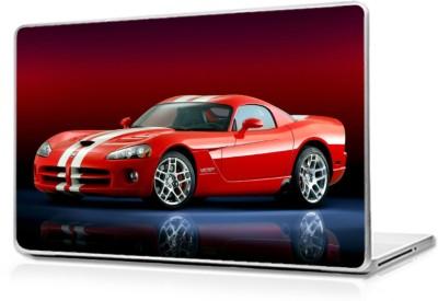 Global Red Roadster Car Vinyl Laptop Decal