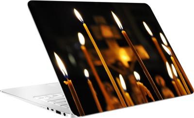 AV Styles Burning Candles And Cross By Av Styles Vinyl Laptop Decal 15.6