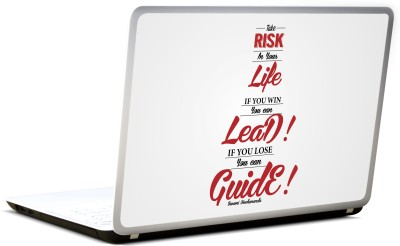Lab No. 4 Take Risks In Your Life Swami Vivekananda Vinyl Laptop Decal 17