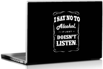Seven Rays Say no to Alcohol Vinyl Laptop Decal 15.6