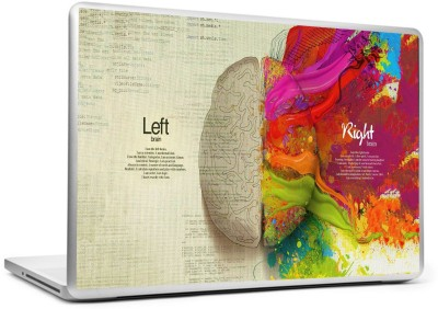 BeCrafty Abstract Left/Right Vinyl Laptop Decal 15.6