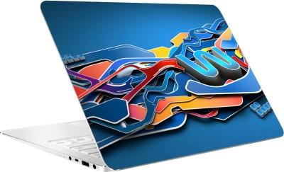 AV Styles Colourful Splash Vinyl Laptop Decal